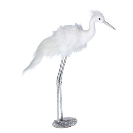 Feather Orn 52cm - White Stork